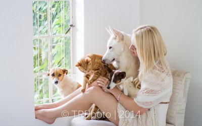 Abi and her Furbabies