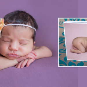 Newborn photoshoot and book