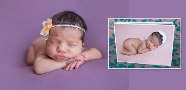 Newborn photoshoot and book